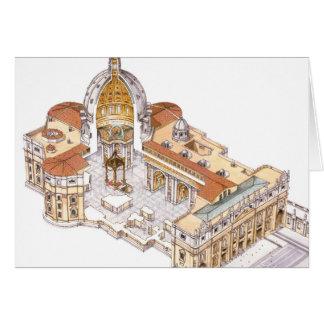 St Peter Basilika. Vatikanstadt Rom. Italien Karte