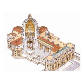 St Peter Basilika. Vatikanstadt Rom. Italien Postkarte
