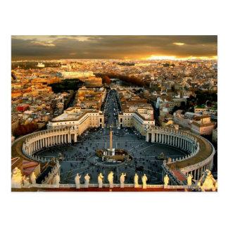 St Peter quadratische Vatikanstadt Postkarte