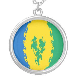 St. Vincent und die Grenadinen Gnarly Flagge Halskette Mit Rundem Anhänger