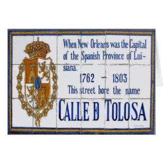 St.-Wandgemälde New- Orleanstoulouse Karte