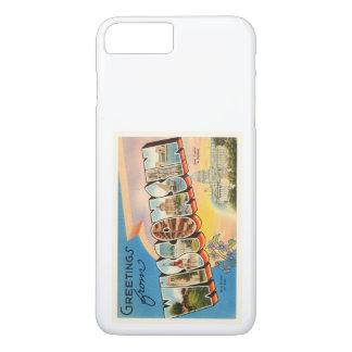 Staat der alten Vintagen Reise-Andenkens Wisconsin iPhone 8 Plus/7 Plus Hülle