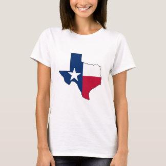 Staat des Flaggen-Kontur-T - Shirt Texas Texas