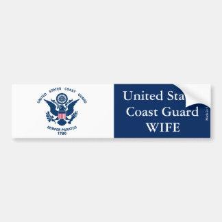 Staat-Küstenwache-Ehefrau-Autoaufkleber Autoaufkleber
