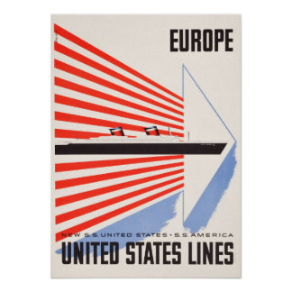 Staat-Linien Reise-Plakat Poster