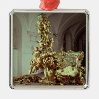 Staat Sleigh von Ludwig II errichtete 1872-80 Quadratisches Silberfarbenes Ornament