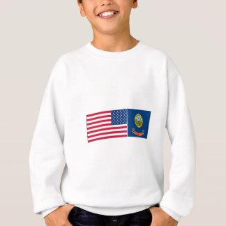 Staat- u. Idaho-Flaggen Sweatshirt