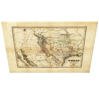 Staat von Texas-Karte (1846) Leinwand Drucke