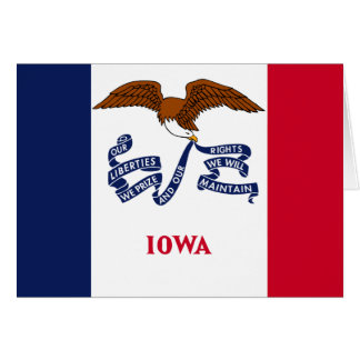 Staats-Flagge von Iowa Karte