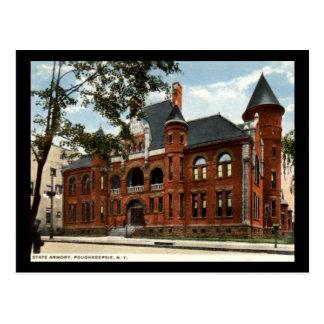 Staats-Waffenkammer, Poughkeepsie, New York Vintag Postkarte