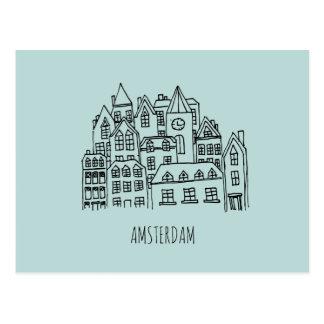 Stadt-Andenken-Orange Amsterdams niederländische Postkarte