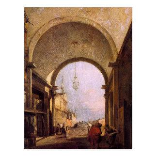 Stadt-Ansicht durch Francesco Guardi Postkarte