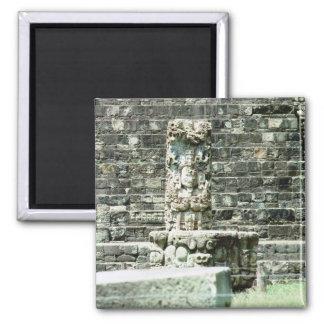 Stadt Copan Mayaruine-Honduras-Fotos Quadratischer Magnet