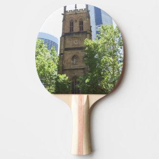 Stadt-Kirchen-Klingeln Pong Paddel Tischtennis Schläger