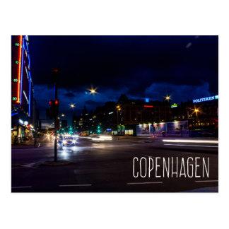 Stadt Kopenhagens Dänemark an der Nachtpostkarte Postkarte