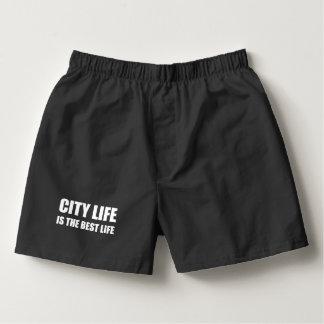 Stadt-Leben-bestes Leben Herren-Boxershorts