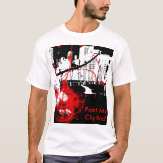Stadt, malen meine Stadt rot T-Shirt