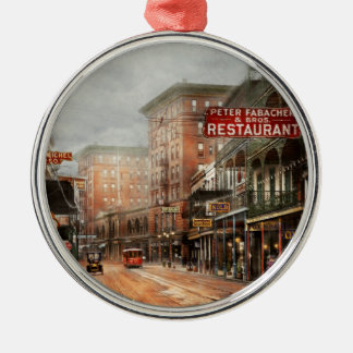 Stadt - New Orleans - ein Blick auf St- Silbernes Ornament