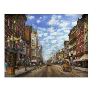 Stadt - NY - Hauptstraße. Poughkeepsie, NY - 1906 Postkarte