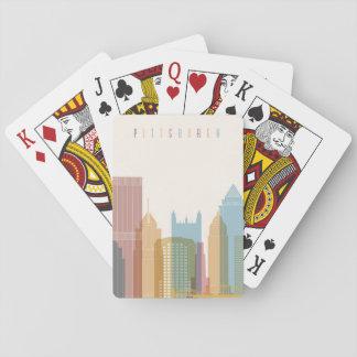 Stadt-Skyline Pittsburghs, Pennsylvania | Spielkarten