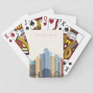 Stadt-Skyline Vancouvers, Kanada | Spielkarten