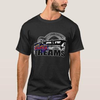 Stadt träumt schwarze T (Mehrfarben) T-Shirt