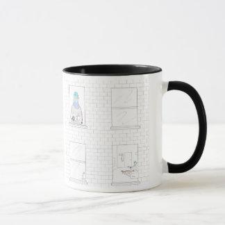 Stadt-Vogel -- Caffeinated Tauben-Tasse Tasse
