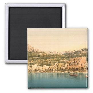 Stadt von Capri, Insel von Capri, Kampanien, Quadratischer Magnet