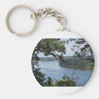 Stadt von Dubuque, Iowa auf dem Fluss Mississipi Schlüsselanhänger