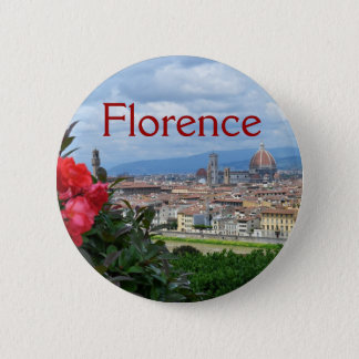 Stadt von Florenz, Italien Runder Button 5,7 Cm