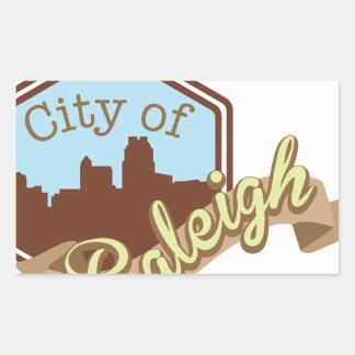 Stadt von Raleigh Rechteckiger Aufkleber