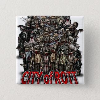 Stadt von Rott Waren Quadratischer Button 5,1 Cm