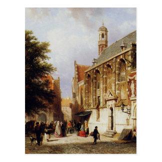 Stadtansicht durch Cornelis-Springer Postkarte