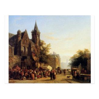 Stadtansicht mit Zahlen durch Cornelis-Springer Postkarte