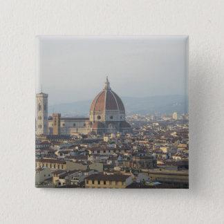 Stadtbild Florenz Italien Quadratischer Button 5,1 Cm