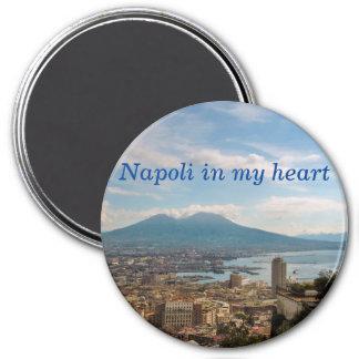 Stadtbild von Neapel Runder Magnet 7,6 Cm