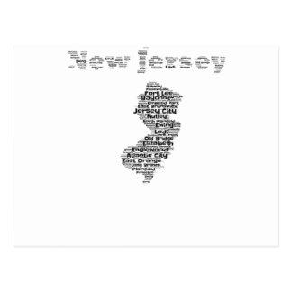 Städte von New-Jersey Postkarte