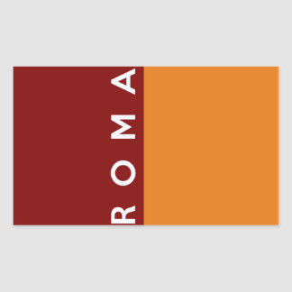 Stadtflaggenitalien-Landtextname Roms Rom Rechteckiger Aufkleber