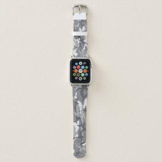 Städtische Tarnungs-graues und weißes Apple Watch Armband