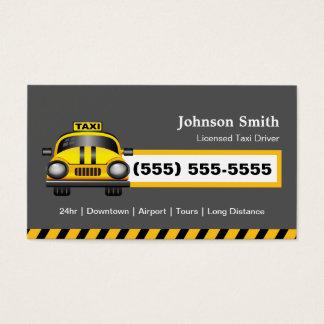 Städtischer Taxi-Fahrer-Fahrer - gelbe Kappe Visitenkarten
