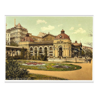 Stadtpark, Klasse Karlsbads, Böhmen, Austro-Ungarn Postkarte