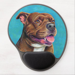 Staffordshire Bull Terrier Dog Gel Mouse Pad