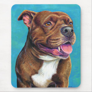 Staffordshire Bull Terrier Dog Mouse Pad Mousepad