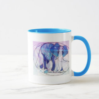 Stained glass elephant tasse