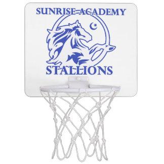 Stallions-Logo-Basketballkorb Mini Basketball Ring