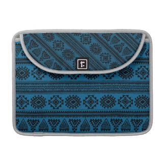 Stammes- blaues ethnisches Muster Macbook Prohülse MacBook Pro Sleeves