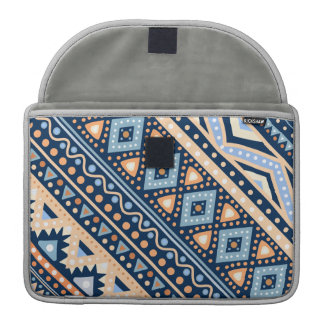Stammes- blaues ethnisches Muster Macbook Prohülse Sleeves Für MacBook Pro