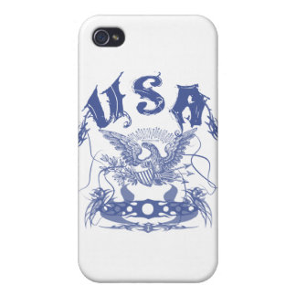 Stammes- Blaues USA iPhone 4/4S Case