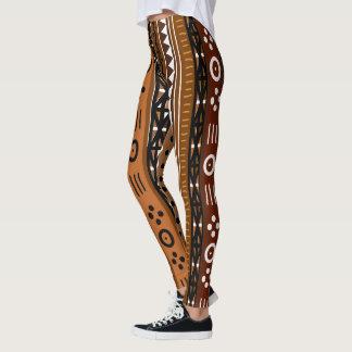 Stammes- Boho Entwurf Browns Leggings