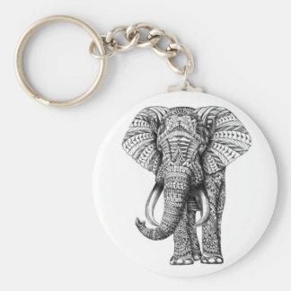 Stammes- Elefant Schlüsselanhänger